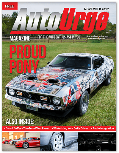 American Spirit Mustang on cover of AutoUrge Magazine