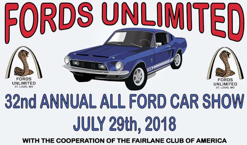 Fords Unlimited 32nd Annual Car Show - July 29th, 2018